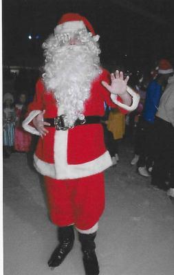 Le père Noel à la patinoire